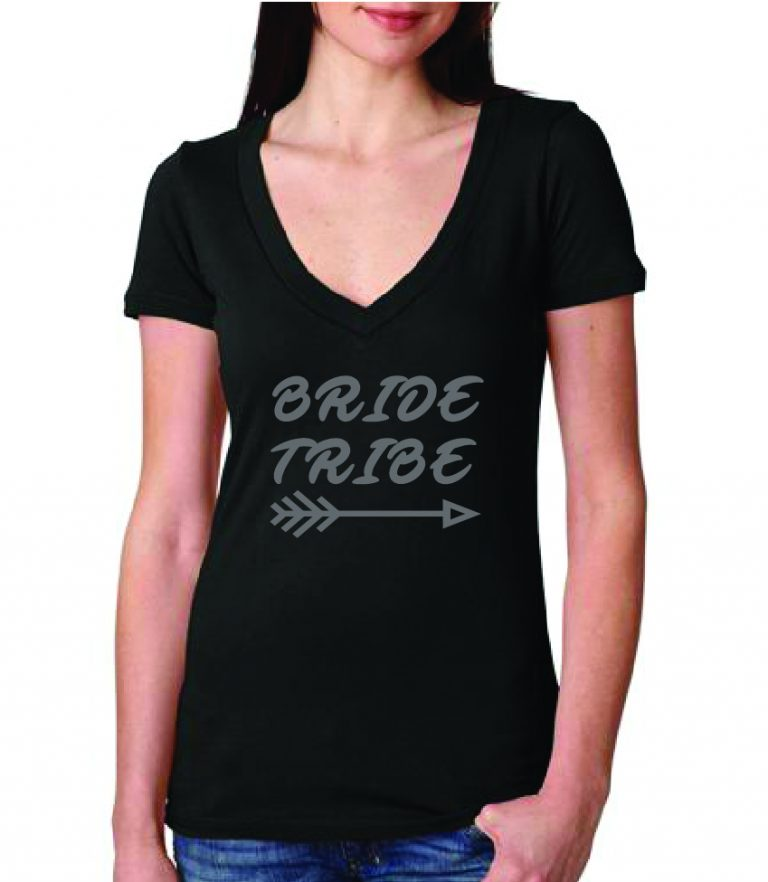Bride & Bridesmaid Tribe Theme Deep V-Neck