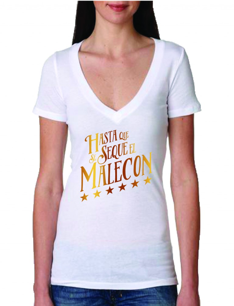 HASTA QUE SE SEQUE EL MALECON WOMEN T-SHIRTS FOR SALE!!