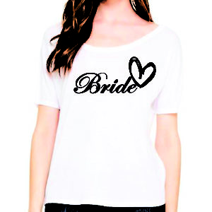 Bride, Bridesmaid, & Maid of Honor Heart Tops