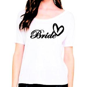Bride, Bridesmaid, & Maid of Honor Heart Tops
