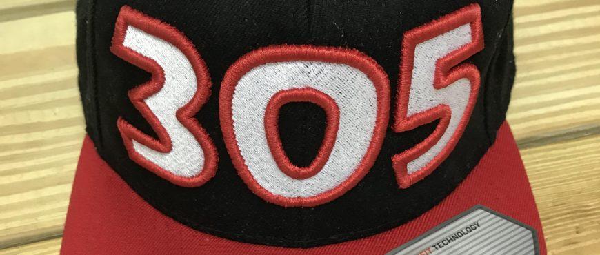 305 snap back hat